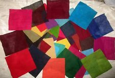 LOT 1 KG PURE COTTON Sari Fabrics REMNANT 4 to 5 inch SQUARES Craft SOLID DOLL