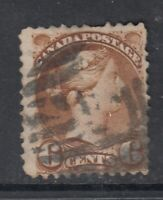 """Canada Scott #39  6 cent yellow brown """"Small Queen""""   F  **"""