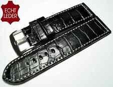 Relojes calidad pulsera de cuero de repuesto Pulsera cocodrilo más de lo look watch Strap Leather 26 mm