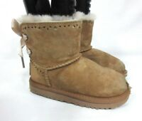 UGG Australia Dixi Flora Perforated Girls Toddler Classic Chestnut 1010494T Sz10