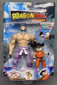 DRAGON BALL SERIES 1- 1st EDITION SUPER ROSHI & GOKU - JAKKS PACIFIC - NIB 2003