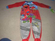 NWT Elmo Blanket Footed Pajamas Sesame Street One Piece