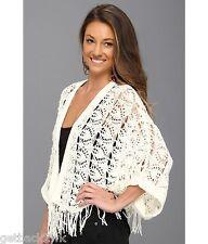 NEW* ROXY Kimono Poncho Cardigan SWEATER SHIRT JACKET TOP M/L $70 Ivory