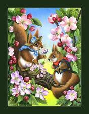Squirrel Wildlife Fantasy Print The Date I Garmashova
