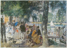 "28"" PRINT Bathing on Seine,1869 by Renoir ANTIQUE MUSEUM ART"