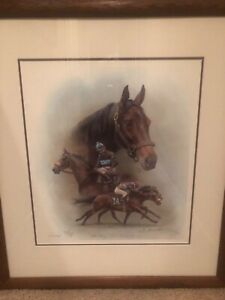 """John Henry/ Bill Shoemaker Up"" Picture Signed by Fred Stone and Bill Shoemaker"