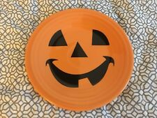 fiestaware luncheon plate pumpkin happy face fiesta halloween dessert