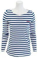 LOFT Merci Stripe Long Sleeve Shirt