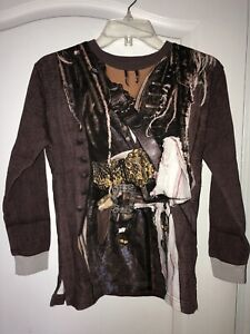 NEW WT Disney Parks Youth Large Brown Pirate's Of The Caribbean Sweatshirt