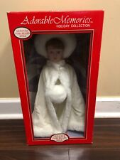 Genuine Porcelain Doll Adorable Memories Holiday Collection hand Painted NIB