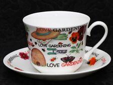 ROY KIRKHAM LOVE GARDENING Fine Bone China Breakfast Cup & Saucer Set
