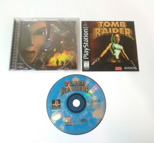 Tomb Raider (Sony PlayStation 1 PS1, 1996) Complete Black Label Has Scratches