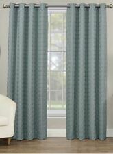 Rings Circle Embroidered 84 in Grommet 100% Blackout Window Curtain Panel