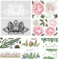 Removable Wall Vinyl Stickers Plant Leaft Flower Animal Pattern Home Room Decal