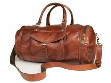 Genuine Leather New Duffel Men's Overnight Carry-On Travel Luggage Gym Bag