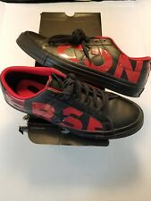 Converse One Star Ox Black Red Low Top Leather 160913C Men 9 Women 11