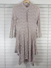 MELA PURDIE sz 12 womens Button up Pansy Lace top [#4383]