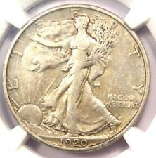 1920-S Walking Liberty Half Dollar 50C - NGC XF Detail - Rare Date - Looks AU!