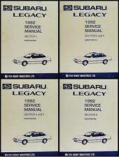 1992 Subaru Legacy Shop Manual 4 Vol Set Repair Service base books for 1993-1994