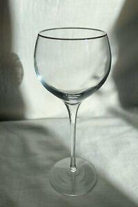 "LENOX crystal ""SOLITAIRE Platinum Signature"" WINE GLASS 8.5"" h."