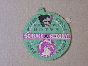 Jessie Matthews original die cut mechanical Czech herald 1936 Evergreen