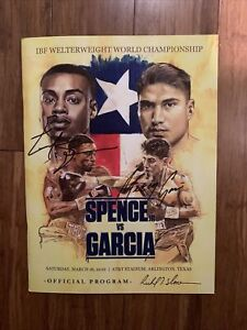 Errol Spence vs Mikey Garcia Signed Official Program with LOA; Slone Cover Art