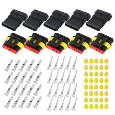 5 Kits 5Pin Way Car Sealed Waterproof Male Female Electrical Wire Connector Plug