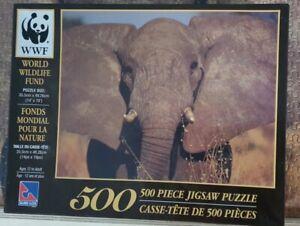 WWF World Wildlife Fund Elephant 500pce SureLox Jigsaw Puzzle 35.5cm x 48.26 cm
