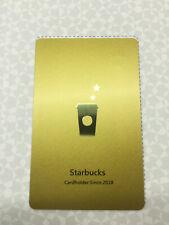 "2018 NEW STARBUCKS TAIWAN COFFEE GIFT GOLD CARD CUSTOMIZED ""STARBUCKS"" FREE SHIP"