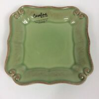 Casafina Vintage Port, Square Bread & Butter Plate, Green, 5 Inches, NWT