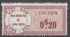 Viet Nam Revenue Barefoot #45 MNH 20c violet brown 1960 cv $6