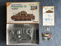 "Dragon Flakpanzer IV ""Kugelblitz"" 1/35 plastic model kit #9109. Rare."