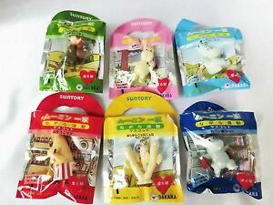Moomin family while exercise mascot Suntory all six Complete Set NEW F/S JAPAN 1