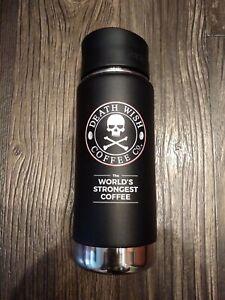 Death Wish Coffee Co DWCC Black Klean Kanteen Insulated 16oz Travel Tumbler
