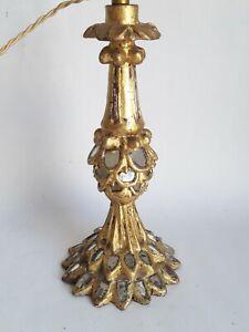 pied de lampe ( bois doré sculpté) et miroirs