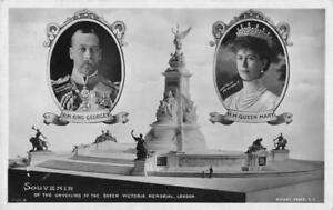 BRITISH ROYALTY - SOUVENIR OF UNVEILING QUEEN VICTORIA MEMORIAL - GEORGE V 1911