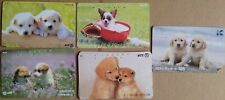 ⭐️ 5 JAPANESE DOG PHONECARDS ⭐️ ALL DIFFERENT ⭐️ JAPAN PHONE CARDS ⭐️ ANIMAL ⭐️
