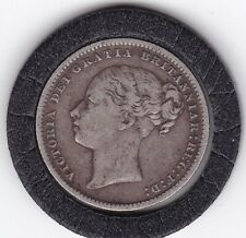 1886   Queen   Victoria   Sterling   Silver  Shilling  British Coin