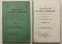 Huber Die Waldstaette Uri, Schwyz, Unterwalden 1861 Geschichte Politik sf