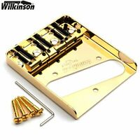 Guitar Parts WILKINSON Ashtray Bridge WTB Telecaster Brass Saddle (Gold)