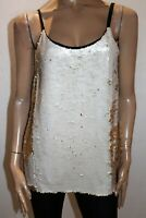 Portmans Brand Gold Cream Sequins Evening Tank Top Size 10 BNWT #HG71