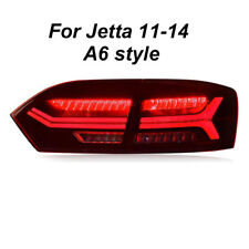 For VW Jetta A6 Style Dark / Red LED Rear Lights Assembly LED Tail Lamps 11-14