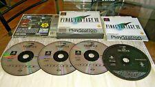 Final Fantasy VII 7 PlayStation Ps1 completa con disco de demostración y Manual PS1