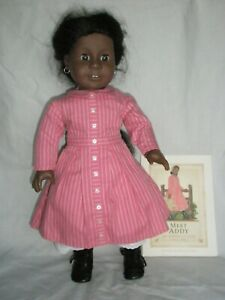 Pleasant Company / American Girl Doll Addy Wearing Her Meet Outfit With Book