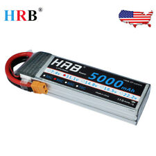 HRB 5000mAh 3S 11.1V 50C LIPO BATTERY XT60 For CAR TRUCK BUGGY BOAT PLANE RC
