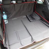 Heavy Duty Rear Seat Protector Pet Hammock Boot Trunk Liner Black & Red 3in1