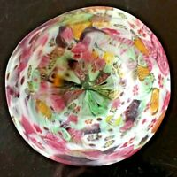 Italian Murano Art Glass Small Trinket Dish Milleflori Fratelli Toso 1970's
