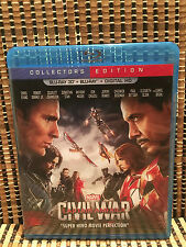 Captain America 3: Civil War 3D (Blu-ray, 2016)NO 2D.Marvel Avenger/Iron Man
