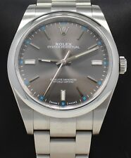 Rolex Oyster Perpetual 114300 DRSO Dark Rhodium Dial 39mm Watch *MINT CONDITION*