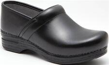 Dansko Professional Black Box Leather Clogs, Women's Size 39 (8.5-9) $140